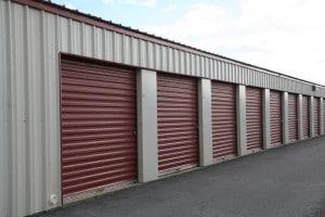 Metal storage building doors