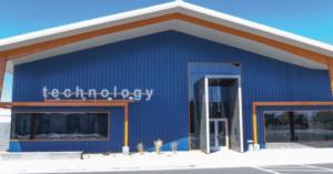 Technology metal business building